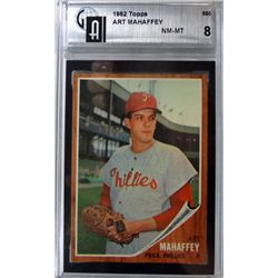 1962 TOPPS #550 ART MAHAFFEY GAI NM-MT 8