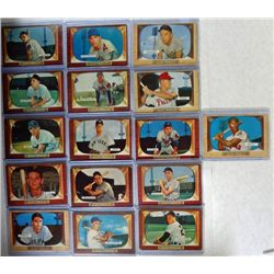 16-1955 BOWMAN BASEBALL CARDS VGEX-EX