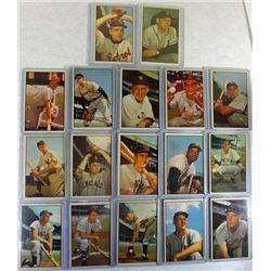 17-1953 BOWMAN COLOR BASEBALL CARDS MOSTLY VGEX-EX