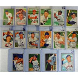 16-1952 BOWMAN BASEBALL CARDS EX-VGEX