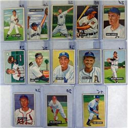 13-1951 BOWMAN BASEBALL CARDS MOSTLY VGEX-EX