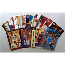 25-BASKETBALL CARDS, DWAYNE WADE, AMARE STOUDEMIRE, CARMELO ANTHONY