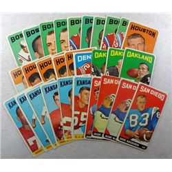 29  1965 Topps football cards  EX or better:2-8-9-10-13-2 20-21-22-45-