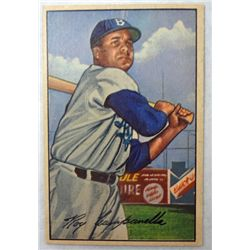1952 Bowman #44 Roy Campanella EM small paper wrinkle on Back of Card
