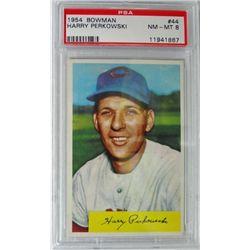 1954 Bowman #44 Harry Perkowski PSA 8 NMMT