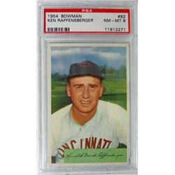 1954 Bowman #92 Ken Raffensberger PSA 8 NMMT