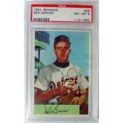 1954 Bowman #39 Ned Garver PSA 8 NMMT
