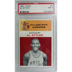 1961 Fleer Basketball #1 Al Attles PSA NM 7 Rookie