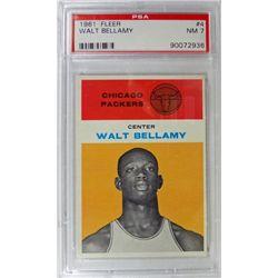 1961 Fleer Basketball #4 Walt Bellamy PSA NM 7 Rookie