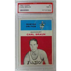 1961 Fleer Basketball #7 Carl Braun PSA NM 7