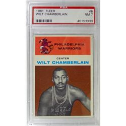 1961 Fleer Basketball #8 Wilt Chamberlain  PSA NM 7 Rookie