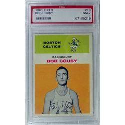 1961 Fleer Basketball #10 Bob Cousy PSA NM 7