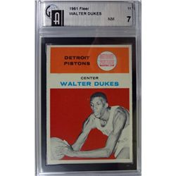 1961 Fleer Basketball #11 Walter Dukes GAI NM 7