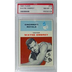 1961 Fleer Basketball #12 Wayne Embrey PSA 8 Rookie