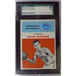 1961 Fleer Basketball #13 Dave Gambee SGC NM 7