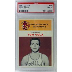 1961 Fleer Basketball #14 Tom Gola PSA NM 7