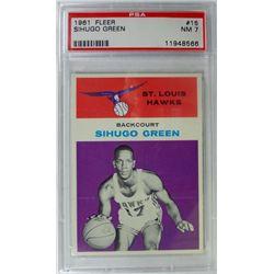 1961 Fleer Basketball #15 Sihugo Green PSA NM 7 Rookie