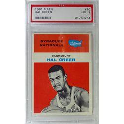 1961 Fleer Basketball #16 Hal Greer PSA NM 7 Rookie