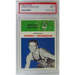 1961 Fleer Basketball #19 Tommy Heinsohn PSA NM7
