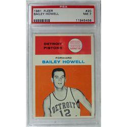 1961 Fleer Basketball #20 Bailey Howell PSA NM7  Rookie