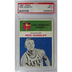 1961 Fleer Basketball #21 Rod Hundley PSA NM7