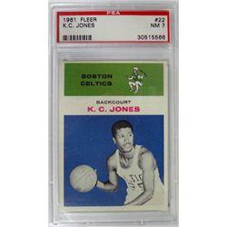 1961 Fleer Basketball #22 K.C. Jones PSA NM7  ROOKIE