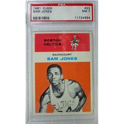 1961 Fleer Basketball #23 Sam Jones PSA NM7 ROOKIE