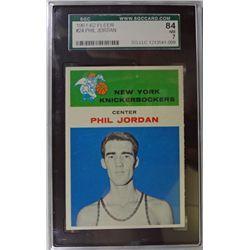 1961-62 Fleer Basketball #24 Phil Jordan SGC NM7