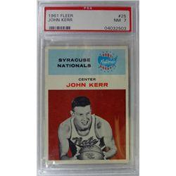1961 Fleer Basketball #25 John Kerr PSA NM 7