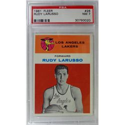 1961 Fleer Basketball #26 Rudy Larusso PSA NM7 Rookie
