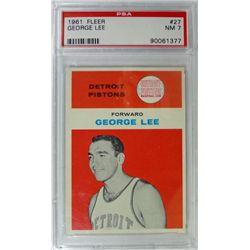 1961 Fleer Basketball #27 George Lee PSA NM7