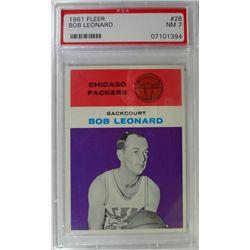 1961 Fleer Basketball #28 Bob Leonard PSA NM7