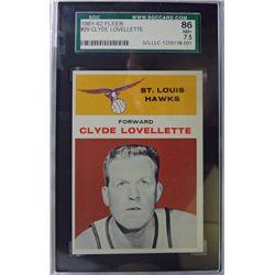 1961-62 Fleer Basketball #29 Clyde Lovellette NM+ 7.5