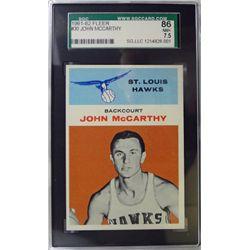 1961-62 Fleer Basketball #30 John McCarthy SGC NM+ 7.5