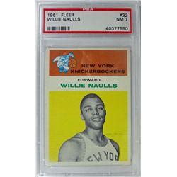 1961 Fleer Basketball #32 Willie Naulls PSA NM7