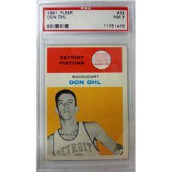 1961 Fleer Basketball #33 Don Ohl PSA NM7 ROOKIE
