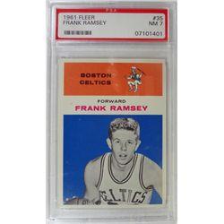1961 Fleer Basketball #35 Frank Ramsey PSA NM7