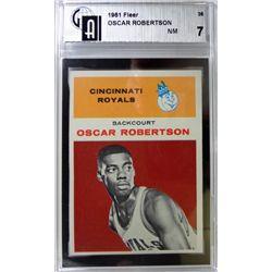 1961 Fleer Basketball #36 Oscar Robertson GA1 NM7 ROOKIE