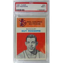 1961 Fleer Basketball #37 Guy Rodgers PSA NM7  ROOKIE