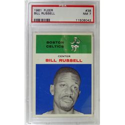 1961 Fleer Basketball #38 Bill Russell PSA NM7