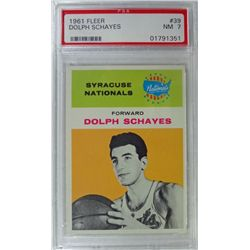 1961 Fleer Basketball #39 Dolph Schayes PSA NM7