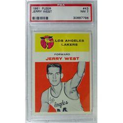 1961 Fleer Basketball #43 Jerry West PSA NM7 ROOKIE