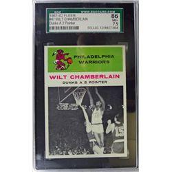 1961-62 Fleer Basketball #47 Wilt Chamberlain in action SGC NM+ 7.5
