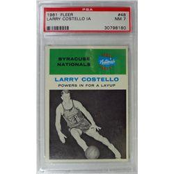 1961 Fleer Basketball #48 Larry Costello in action PSA NM7
