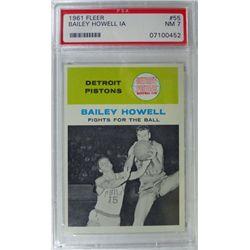 1961 Fleer Basketball #55 Bailey Howell in action PSA NM7