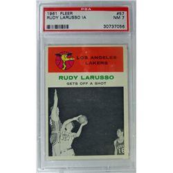1961 Fleer Basketball #57 Rudy Larusso in action  PSA NM7