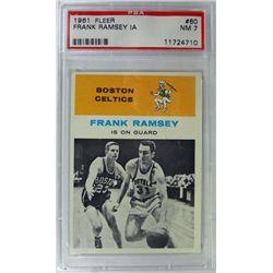 1961 Fleer Basketball #60 Frank Ramsey in action PSA NM7