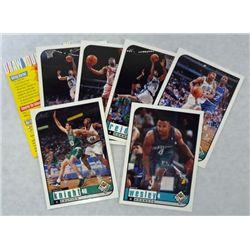 "6 Upper Deck Choice ""Hologram"" Basketball Cards"""