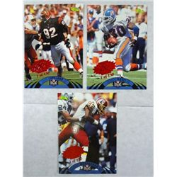 """3 NFL Experience/Classic Cards """"Red Seal"""" Each Card is 1 of 150"""