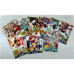 12 Experience/Classic Football Cards   Gold Seal Each  Card is 1 of 799